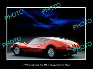 OLD-8x6-HISTORIC-PHOTO-OF-1973-MONTIVERDI-HAI-450-GTS-CAR-LAUNCH-PRESS-PHOTO