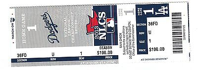 2013 LA DODGERS VS ST. LOUIS CARDINALS PLAYOFFS NLCS GAME #3 TICKET STUB RYU WIN