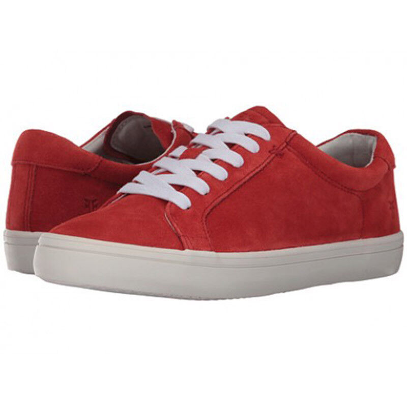 6.5M, 8.5M, 9.5M FRYE KERRY LOW LACE RED SUEDE LEATHER WOMEN'S SNEAKERS SHOES
