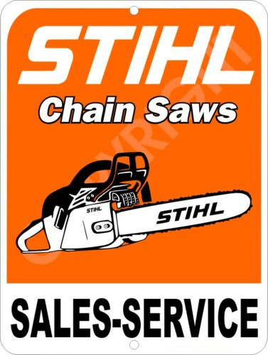 "STIHL Chain Saw Sales /& Service Advertising Aluminum Sign 9/"" x 12/"""