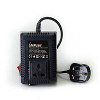 LiteFuze LC-500 500 Watt Voltage Converter Transformer - Step Up/Down - UK Cord