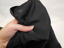 Nero Poliestere Morbido Vestito raso fodera tessuto 150cm largo. Per Metro