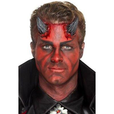 Vendita Economica Lattice Realistica Devil Corno Protesi Adulti Halloween Devils Accessorio Vestito-mostra Il Titolo Originale