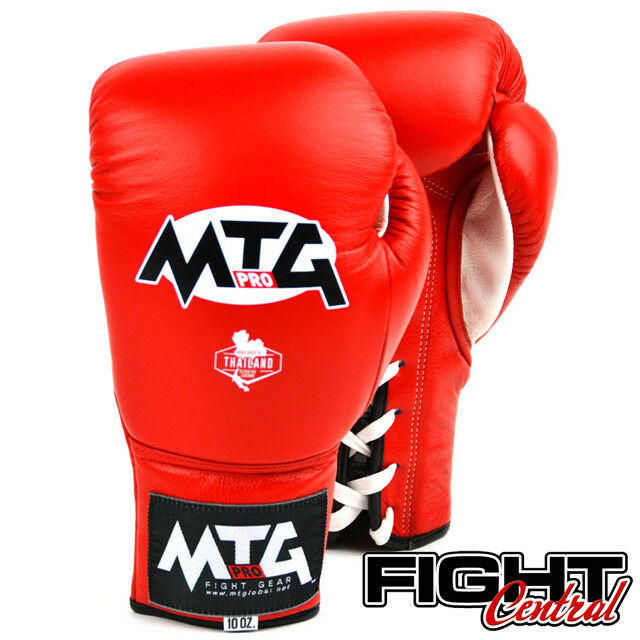 MTG Pro Lace Up Boxing Gloves - Muay ROT - FREE P&P - Muay - Thai, MMA, Boxing bffbeb