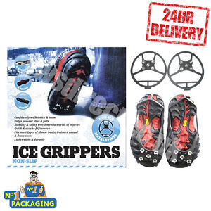 20-PAIRS-LARGE-ICE-SNOW-ANTI-SLIP-GRIP-GRIPPER-SPIKES-CRAMPON-CLEARANCE-JOB-LOT