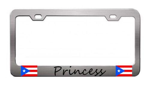 Princess Puerto rico License Plate frame tag holder Bumper