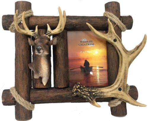 Picture Frame,Deer,Antler,Primitive,North woods,Cabin Lodge  4214