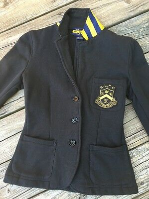 RALPH LAUREN Rugby Cotton Jacket Sz S Black