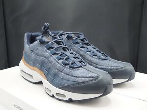 size 40 6cbe1 8e4c2 Image is loading Nike-Air-Max-95-Premium-Wool-Thunder-Blue-