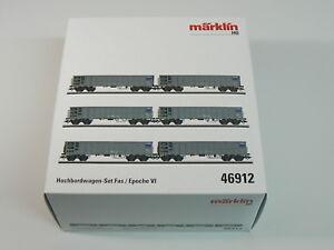 Marklin-H0-46912-Hochbordwagen-Set-SBB-neu