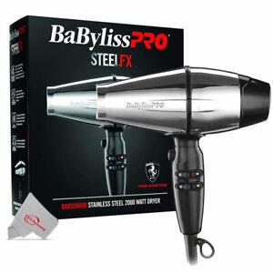 Babyliss Pro Steel FX Stainless Steel 2000 Watt Hair Dryer BABSS8000