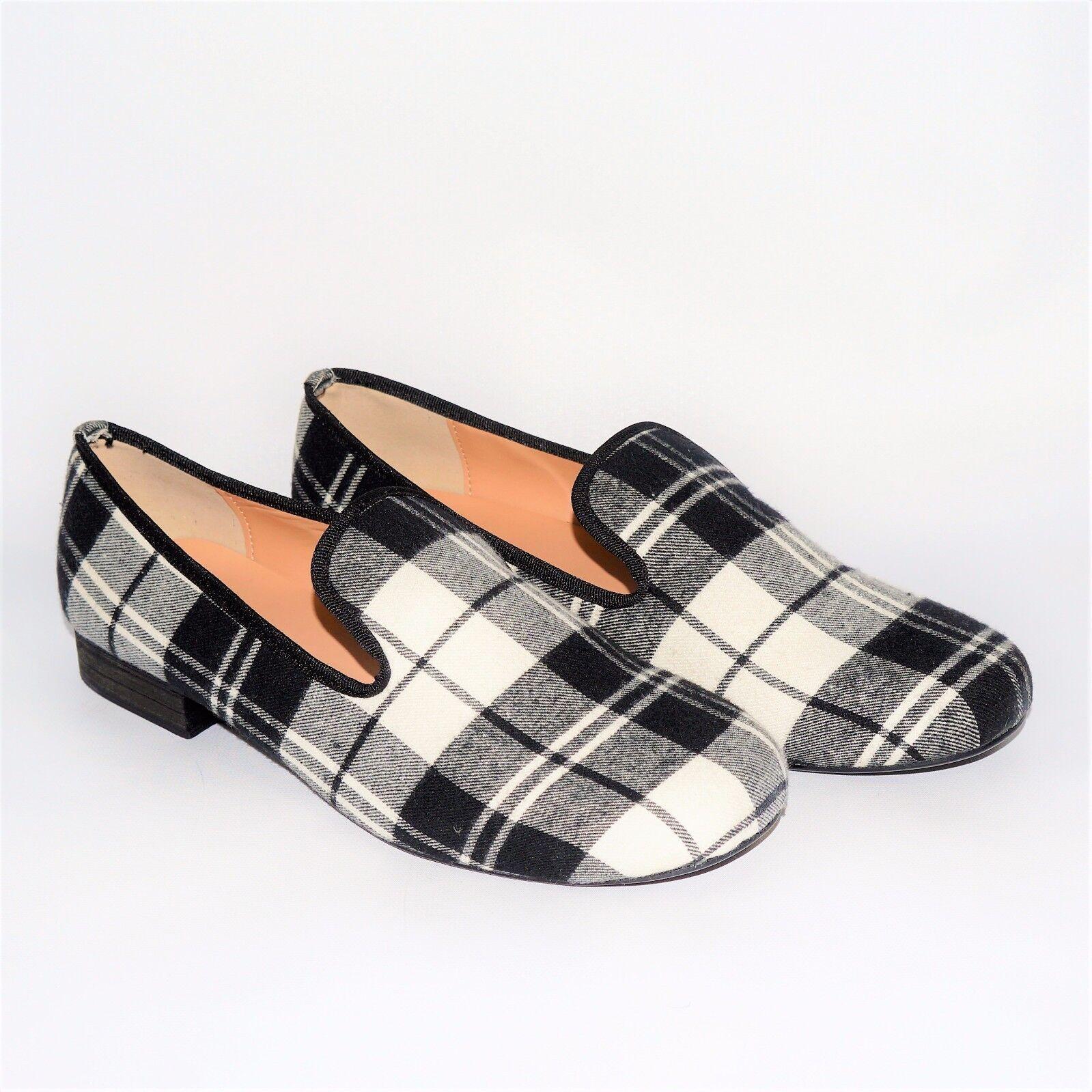 Uomo Fashion Luxury Plaid Slippers Loafer Scarpe