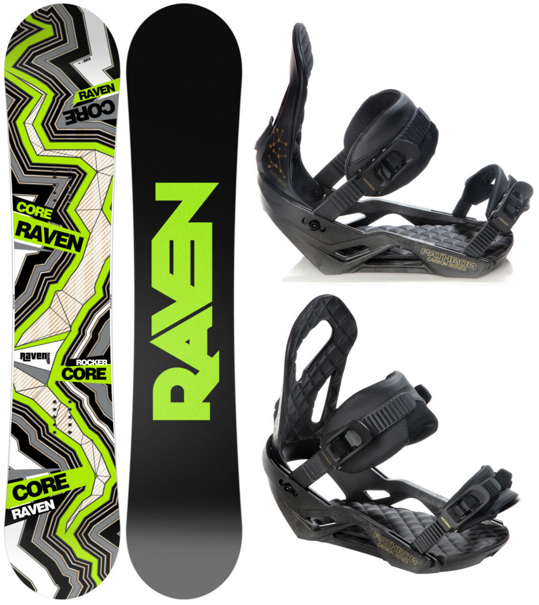 Snowboard Raven Core Carbon Carbon Carbon 2019 + Raven, Pathron oder Croxer Bindung - Neu 273101