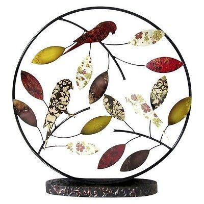 Decorative Medallion Figurine Birds and Leaves - Multicolor