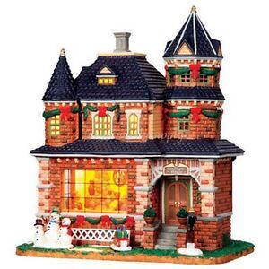 LEMAX-05046-KENSINGTON-HOUSE-PORCELAIN-VILLAGE-BUILDING-10-TALL-CHRISTMAS-DECOR