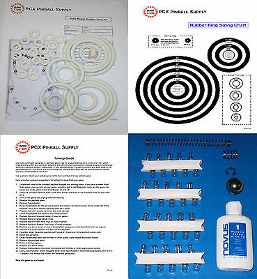 1967 Williams Jolly Roger Pinball Machine Tune-up Kit - Includes Rubber  Rings! | eBay