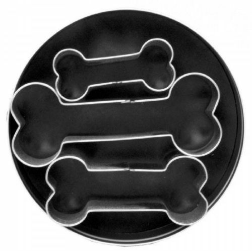 3X Kitchen Stainless Steel Dog Bone Cookie Biscuit Fondant Pastry Baking Cutters