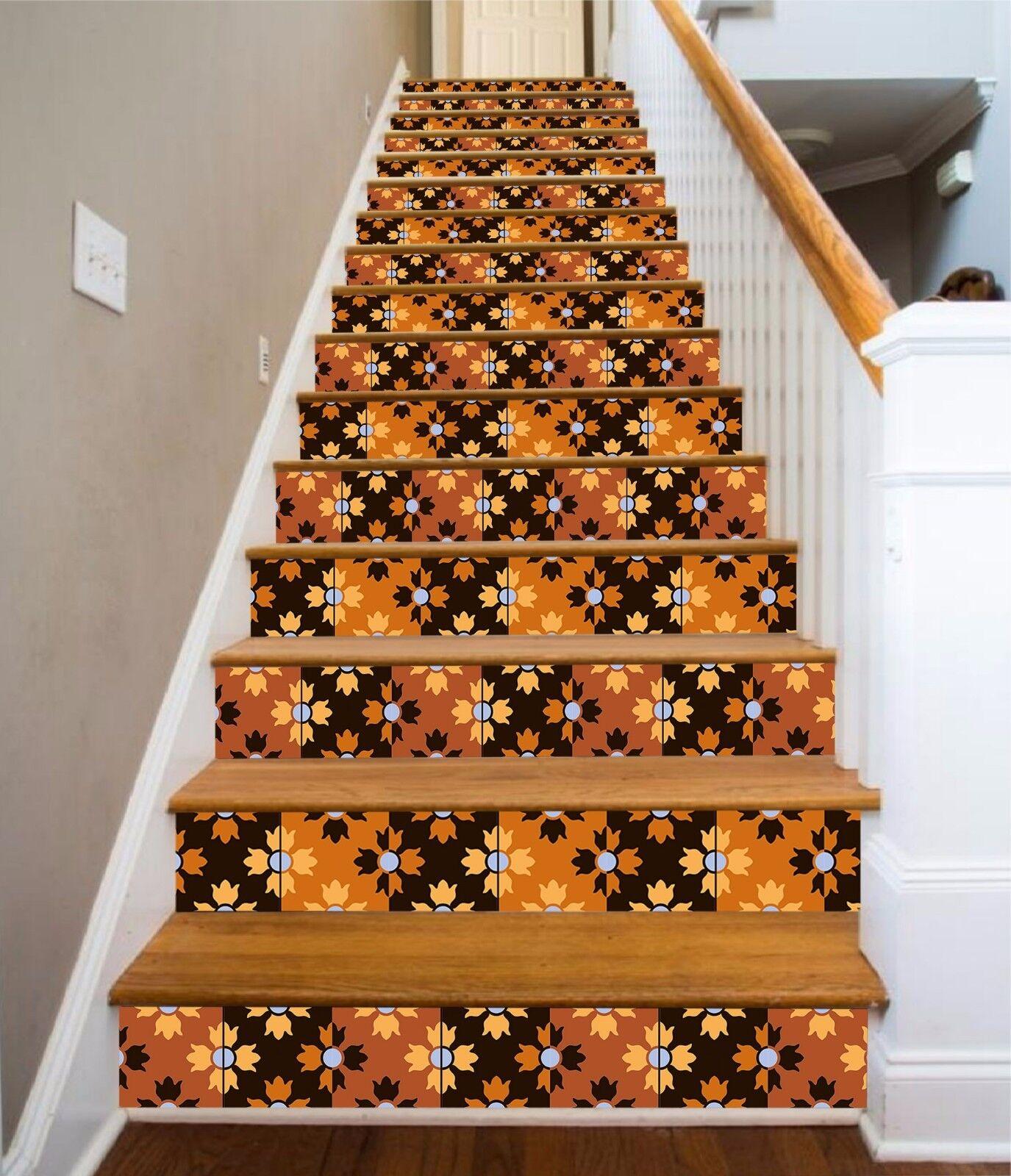 3D Leaves 627 Stair Riser Decoration Photo Mural Vinyl Decal Wallpaper UK Lemon