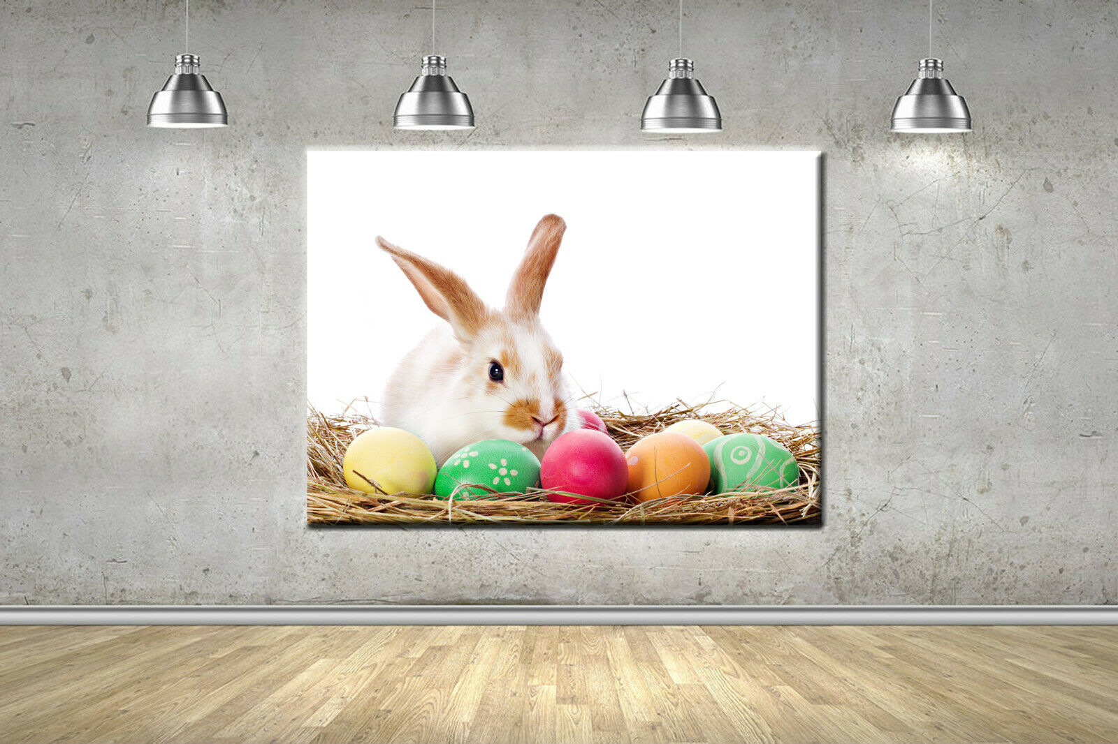 Easter Bunny Nursery Frame Canvas Photo Wall Art Picture Home Decor Poster