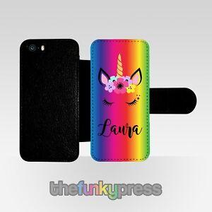 Personalizado-Unicornio-Abatible-Funda-para-Telefono-Regalo-de-Cumpleanos-Bonito