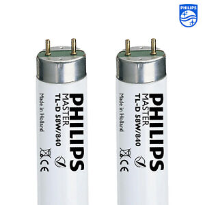 Philips T8 Tube fluorescent 2 Pack 5 FT (environ 1.52 m) F58w couleur 4000K 840 Blanc Froid Lumière