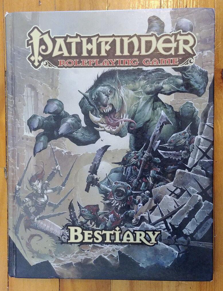 Pathfinder RPG - Bestiary (second print 2010, Hardcover) (EX)