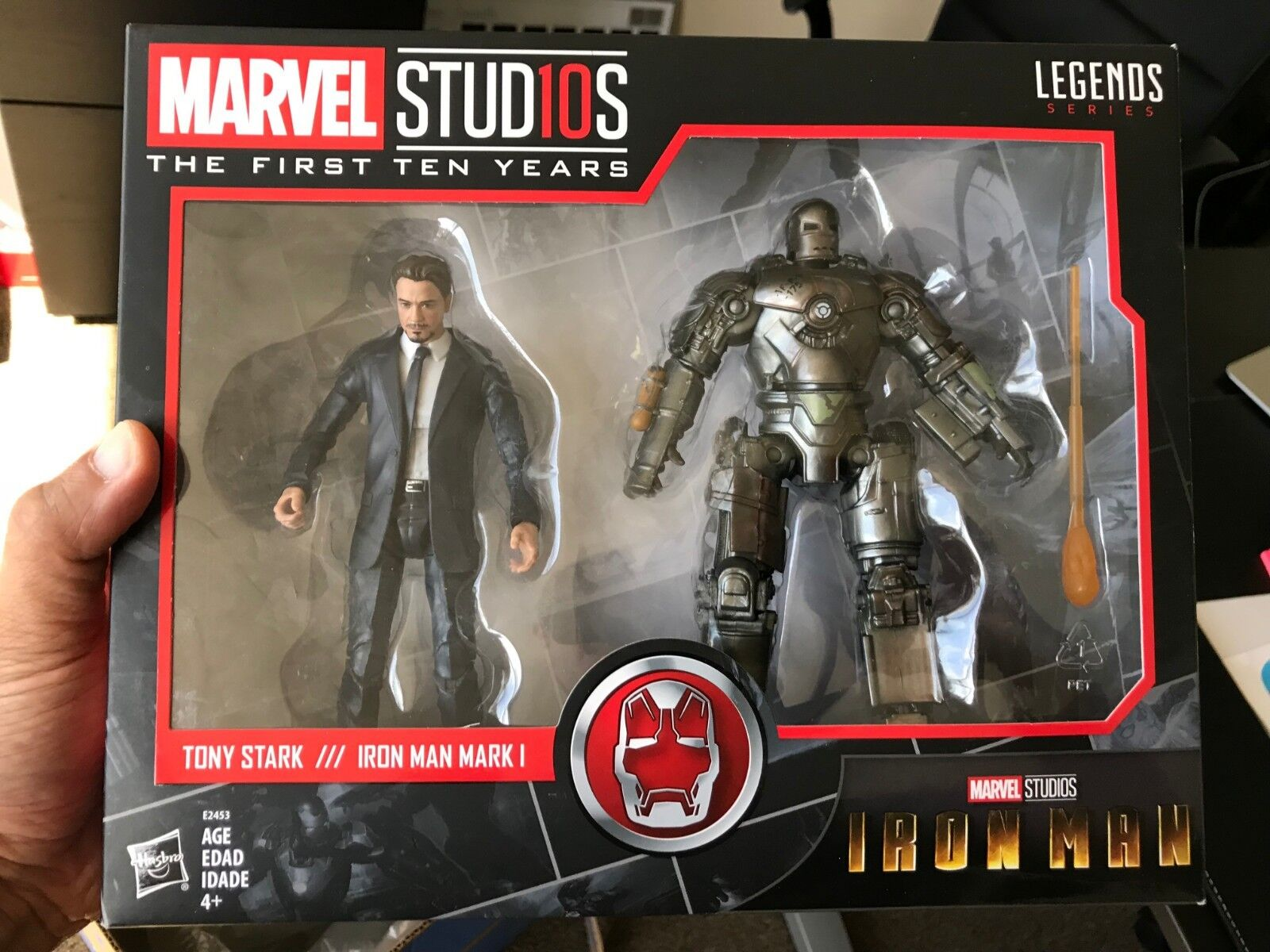 Marvel Legends MCU First Ten 10  Years Tony Stark Iron Man Mark I Sealed In Hand  envoi gratuit dans le monde entier