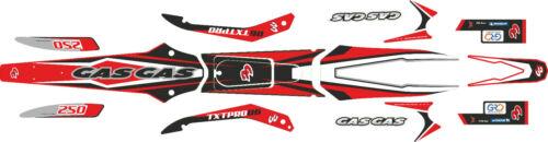 GasGas TXT Pro 2006 300cc . sticker  set 80cc 06 style Red decal