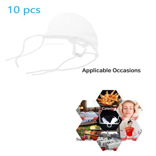 10Pcs Klar Mund Schild Anti-speichel Abdeckung Kunststoff Für Köche Restaurant