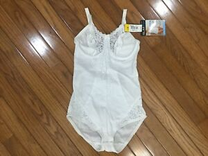 NWT-Sears-Slim-Shape-30084-Body-Briefer-Lace-Shaper-Body-Suit-White-36B-C9-4