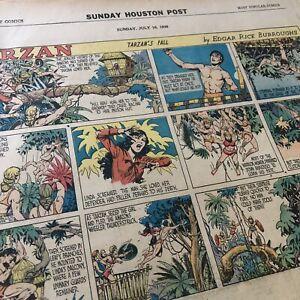 LOT-7-1939-GOLDEN-AGE-TARZAN-SUNDAY-NEWSPAPER-COLOR-STRIPS-COMICS-BY-Burroughs