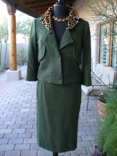 LEOPARD~!! $3K DON LOPER Beverly Hills Green Boucl