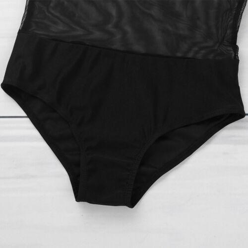Girls Kids Mesh Camis Ballet Dance Leotard Dress Underwear Gymnastics Dancewear