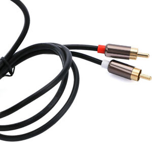 Aux-Headphone-3-5mm-Jack-TV-Speaker-Splitter-3-5-To-2RCA-Audio-Cable-RCA-Cable