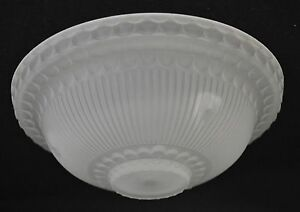 antique vintage frosted art deco 3 hole glass replacement