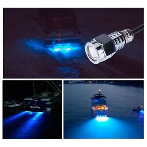 Details About 12v Blue 6 Led Underwater Boat Lights Bulb 9w Waterproof Yacht Boat Drain Plug