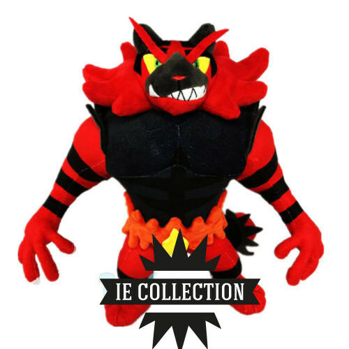 POKEMON INCIblackAR 30 CM SOFT TOY snowman Félinferno Fuegro litten plush