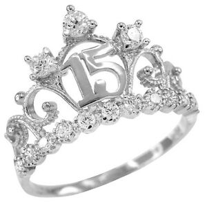 White Gold Quinceanera 15 Anos Conora Cz Crown Ring  Ebay. Pretty Wedding Engagement Rings. Guard Rings. Line Engagement Rings. Yellow Wedding Rings. Light Blue Engagement Rings. Happiness Engagement Rings. Jewelers Engagement Rings. Coloured Rings