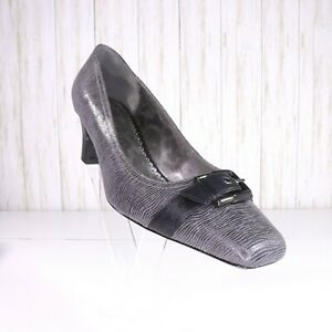 J Renee Flutra Gray Black Pumps Shoes
