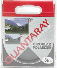 Quantaray 58mm Circular Polarizing C-PL Filter Film & Digital Retail $32+ MINT!