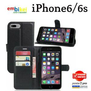 Custodia-APPLE-IPHONE-6-6s-Flip-Cover-Libro-Portafoglio-Chiusura-Magnetica
