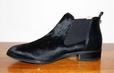 UNISA Fell Stiefelette Chelsea Booties Boots Pony Leather BAISO PO RI Black 39 C