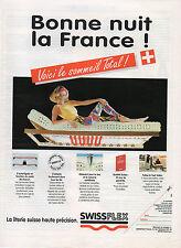 Publicité 1994   SWISSFLEX  la literie suisse haute précision  Matelas Lit