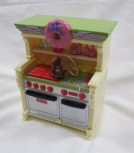 Fisher Price Loving Family Dollhouse KITCHEN UNIT w// Sounds Stove Oven Unit Rare