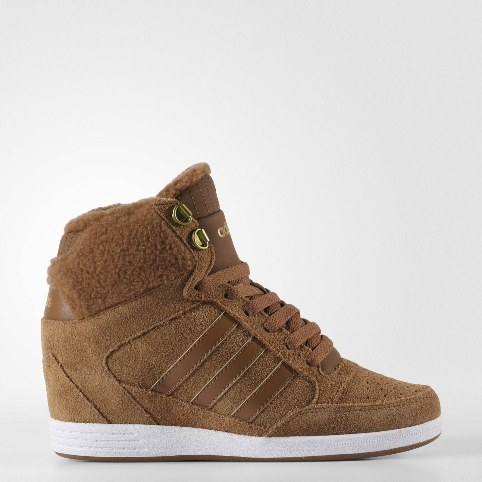 ADIDAS SUPER TOP Marron COMFORT SUEDE WEDGE WINTER Chaussures bottes WALKING AW4276 PRM