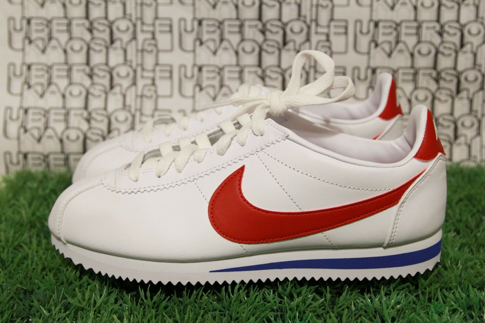 Nike Classic Cortez Forest Gump  OG qs bluee Red White 807471 103 WOMEN 9.5,MEN 8