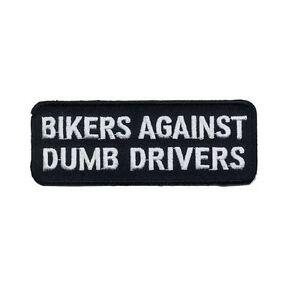 BIKERS AGAINST DUMB DRIVERS PATCH