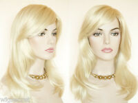 Long, Softly Waved Hair Medium Featuring An Off Center Part Straight Wigs