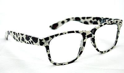 GF120  Leopard Retro Wayfarer Style Frame 2015 Fashion Clear lens Glasses