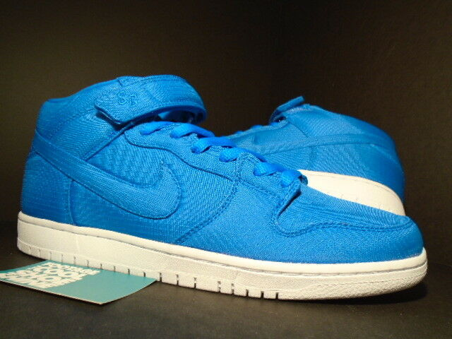 2018 Nike Dunk Mid Pro SB RIP-STOP NYLON PHOTO ROYAL BLUE WHITE 314383-441 DS 8